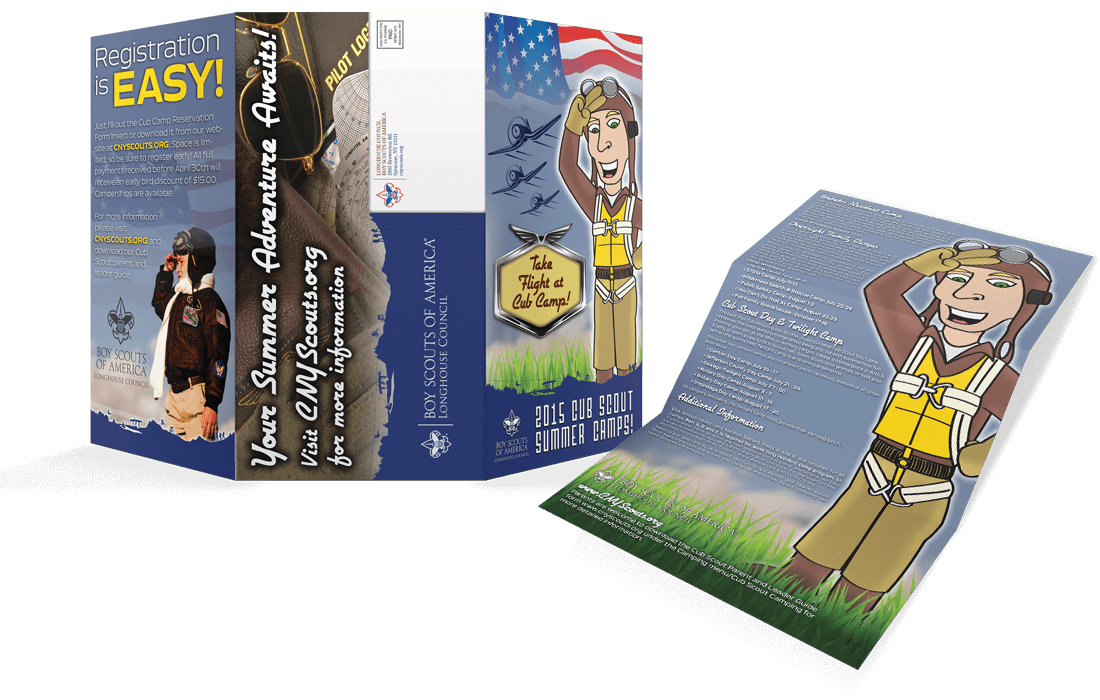 Oversize Tri-Fold Camp Brochures