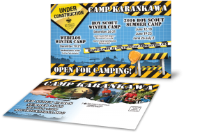 Camping Post Card - Camp Brochures