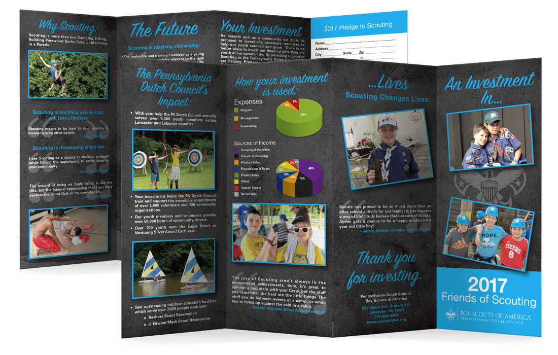Friends of Scouting Brochures - Parallel Fold