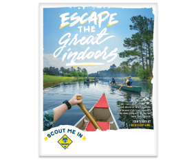 Escape the Great Indoors flyer