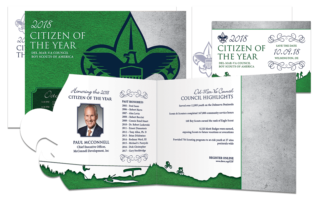 2018 Boy Scouts Citizen of the Year Mailer