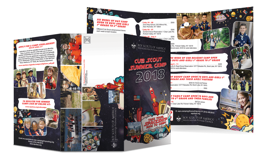 2018 Club Scout Summer Camp Mailer Tri-Fold