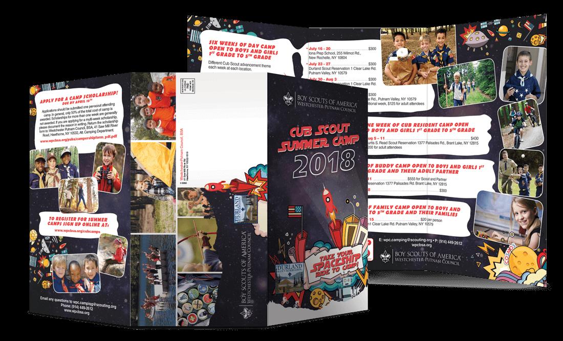 2018 Club Scout Summer Camp Mailer Tri-Fold