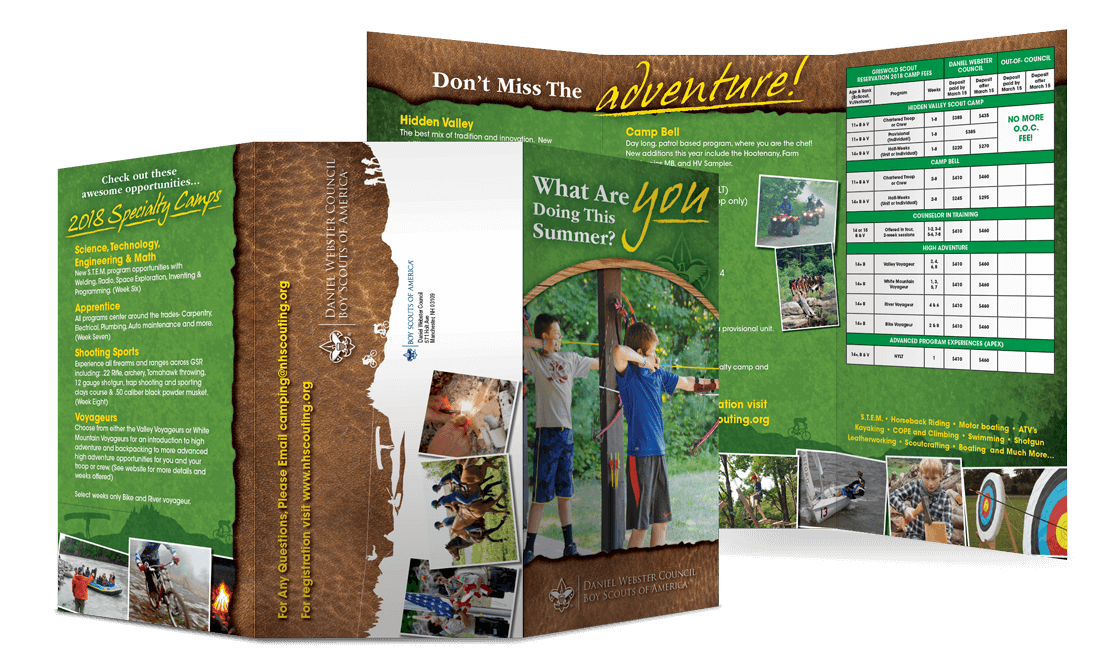 2018 Specialty Camps Oversize Tri-Fold Mailer