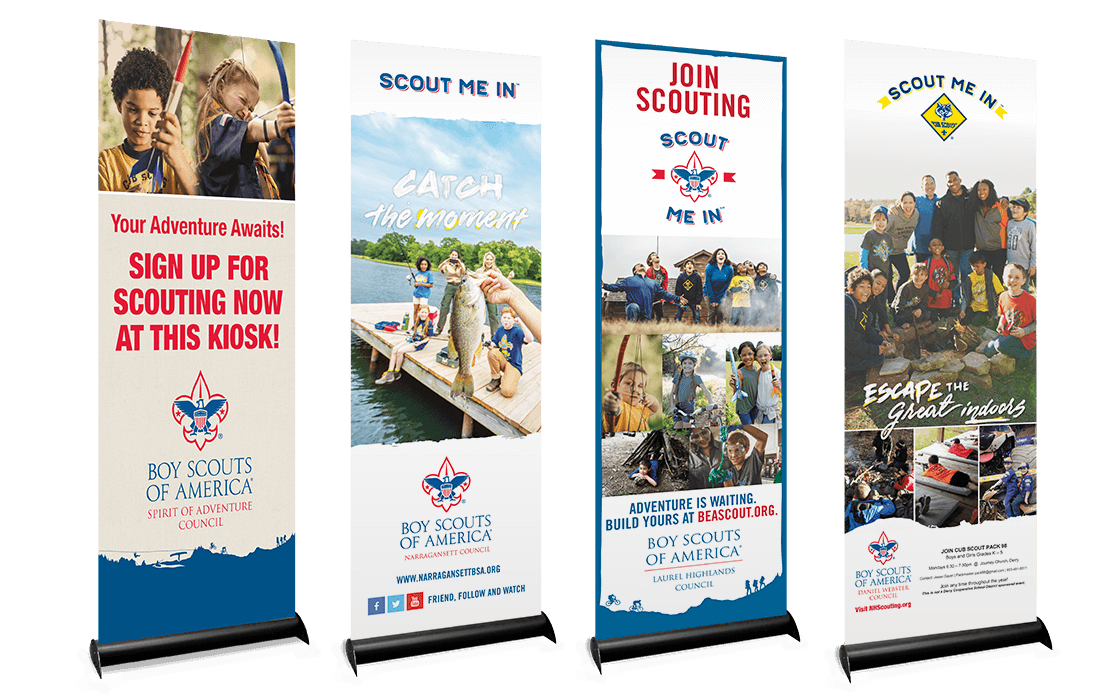 2019 Banner Ups Signage for Boy Scouts