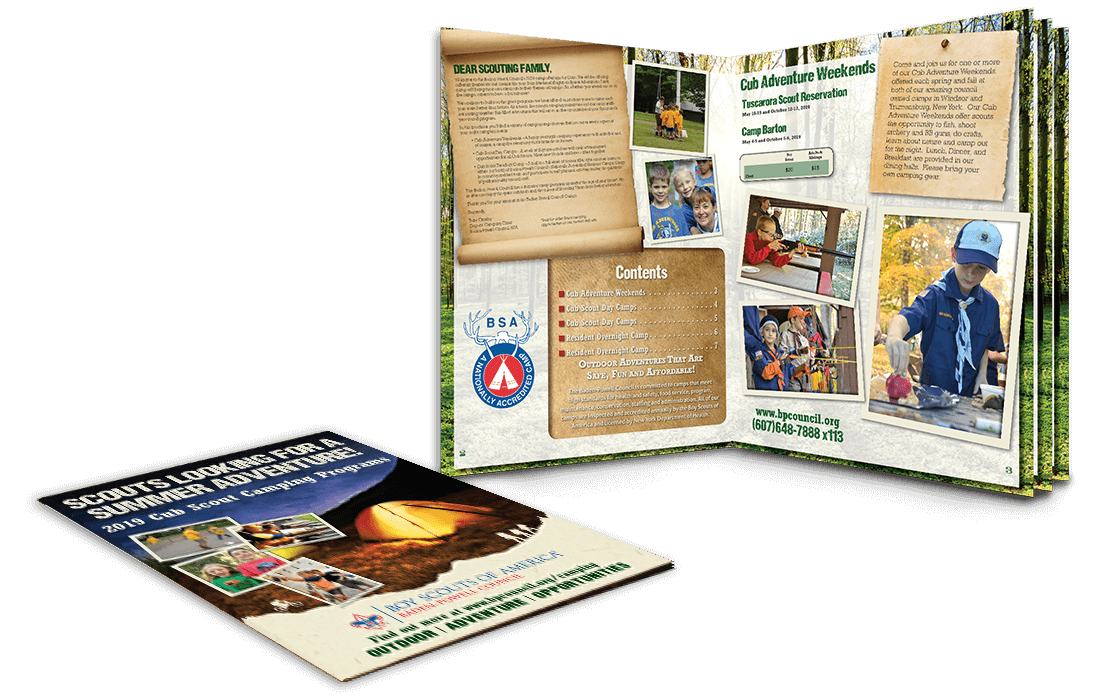 2019 boy scouts multi page booklet