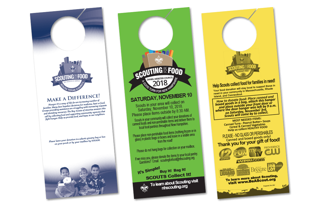 2019 Door hangers for Boy Scouts of America