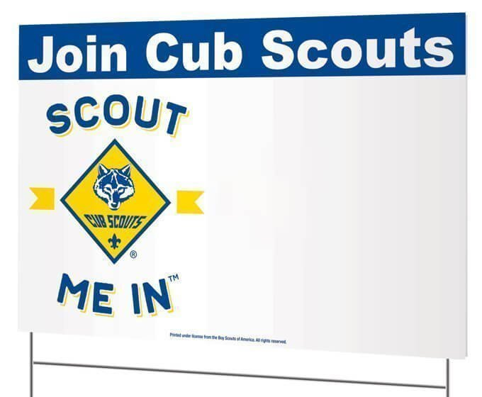 Join Cub Scouts yard sign only $1.49